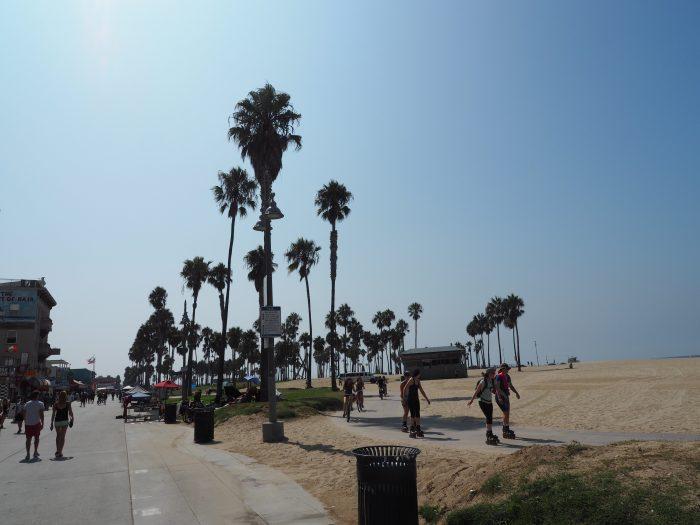 Лос Анжелес (Los Angeles). Venice Beach. На роликах.