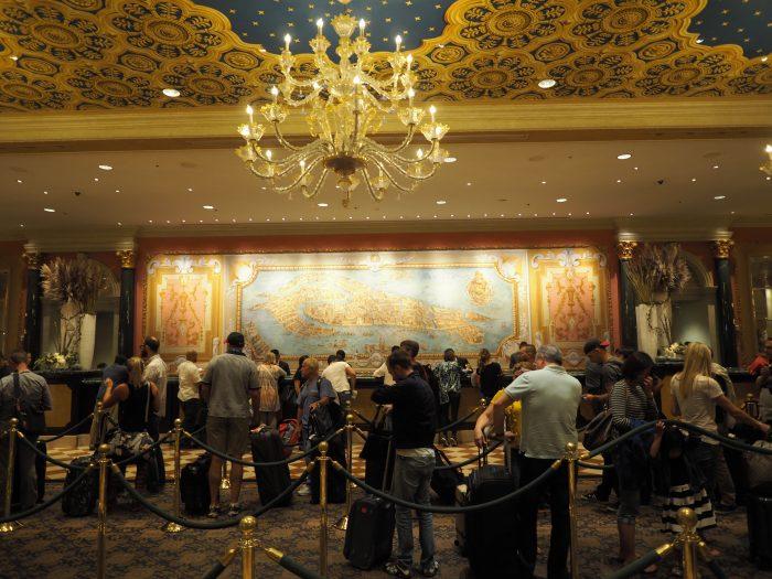 Роскошный ресепшен в отеле Венеция в Лас Вегасе